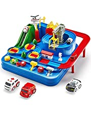 Race Tracks for Boys Car Adventure Toys City Rescue Preschool Educational Toy Vehicle Puzzle Car Track Playsets for Toddlers