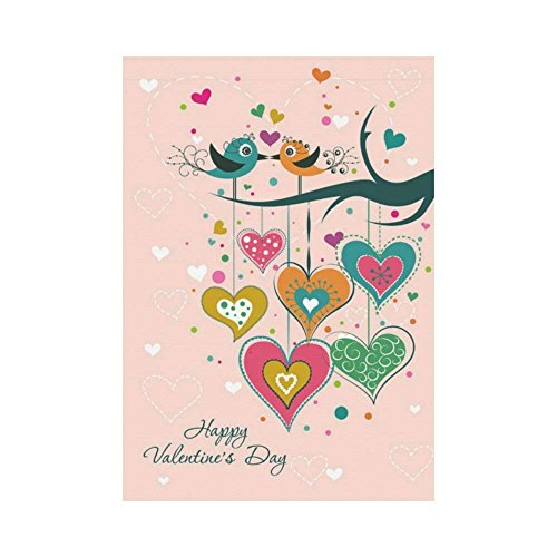 WAZZIT Happy Valentine's Day Birds on Tree Polyester Garden