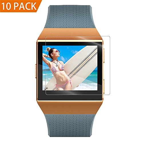 Epuly for Fitbit Ionic Screen Protector 10 Pack, for Fitbit Ionic Accessories [Case Friendly][Full Coverage][Bubble-Free][No Lifted Edges] HD Film Screen Protector for Fitbit Ionic Smart Watch