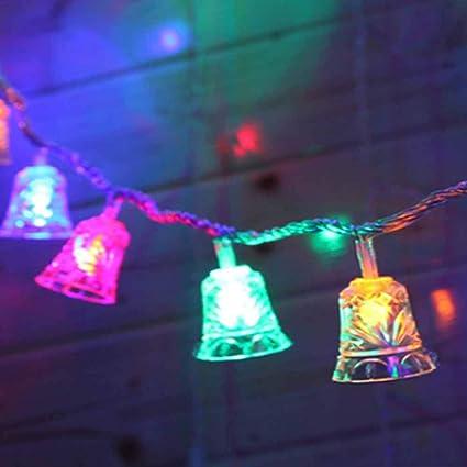 Amazon Com Poppap Battery String Lights Bell String Lamp