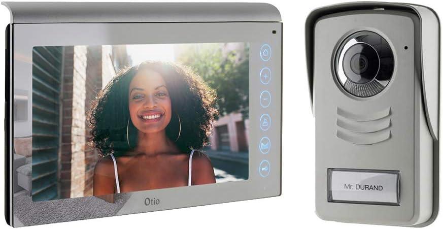 c/âble de 15 m, angle de vision de 120 /°, carte SD 1 G 1byone Interphone vid/éo avec 2 fils /écran couleur 7 et cam/éra HD