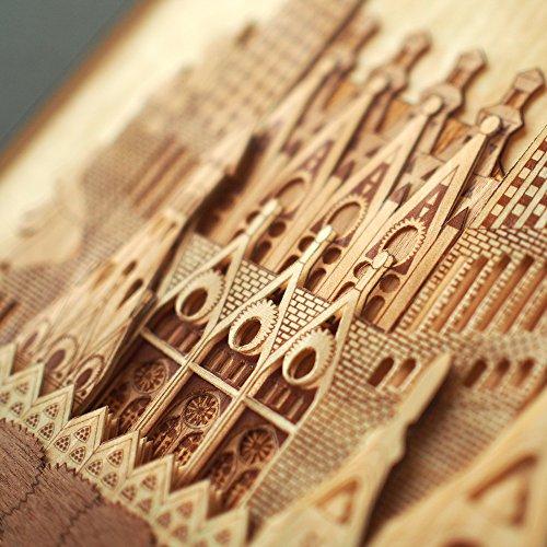 KINOWA Wooden Art Kit Kiharie Sagrada Familia Made in Japan by KINOWA (Image #6)