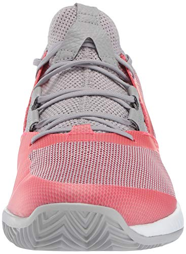 adidas Women's Adizero Defiant Bounce, Light Granite/Shock red/White 6 M US by adidas (Image #4)