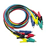 MonkeyJack 5 Pieces Insulated Alligator Clip Test Cable Leads Double-ended Crocodile Clips Test Jumper Wire