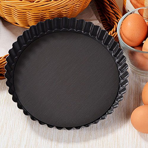 Pizza Pan Quiche Removable Loose Bottom Tart Pie 3pcs Applications To Produce Fruits Pie, Pizza, Etc.