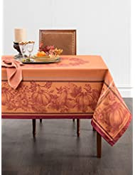 Benson Mills Harvest Royalty Engineered Yarn Dyed Jacquard Tablecloth, 60  By 84 Inch