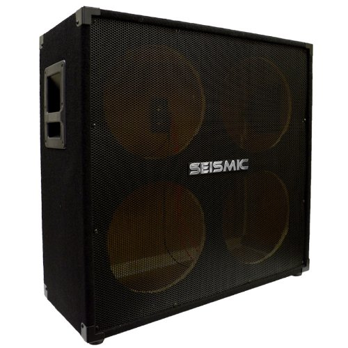 Seismic Audio - SA-412EMPTY - 4x12 Empty Guitar Cabinet - No Woofers / Speakers - Live Sound Pro Audio New by Seismic Audio