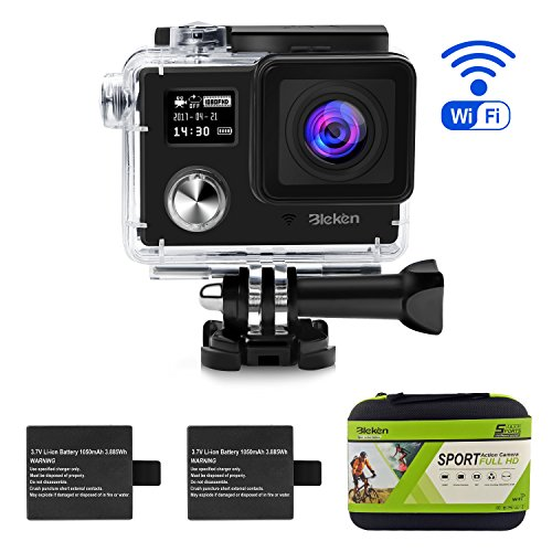 "Underwater Camera 16MP FHD 1080P 98"" Waterproof with Dual Screen and 170 Ultra Wide Angle Nine Cubes"