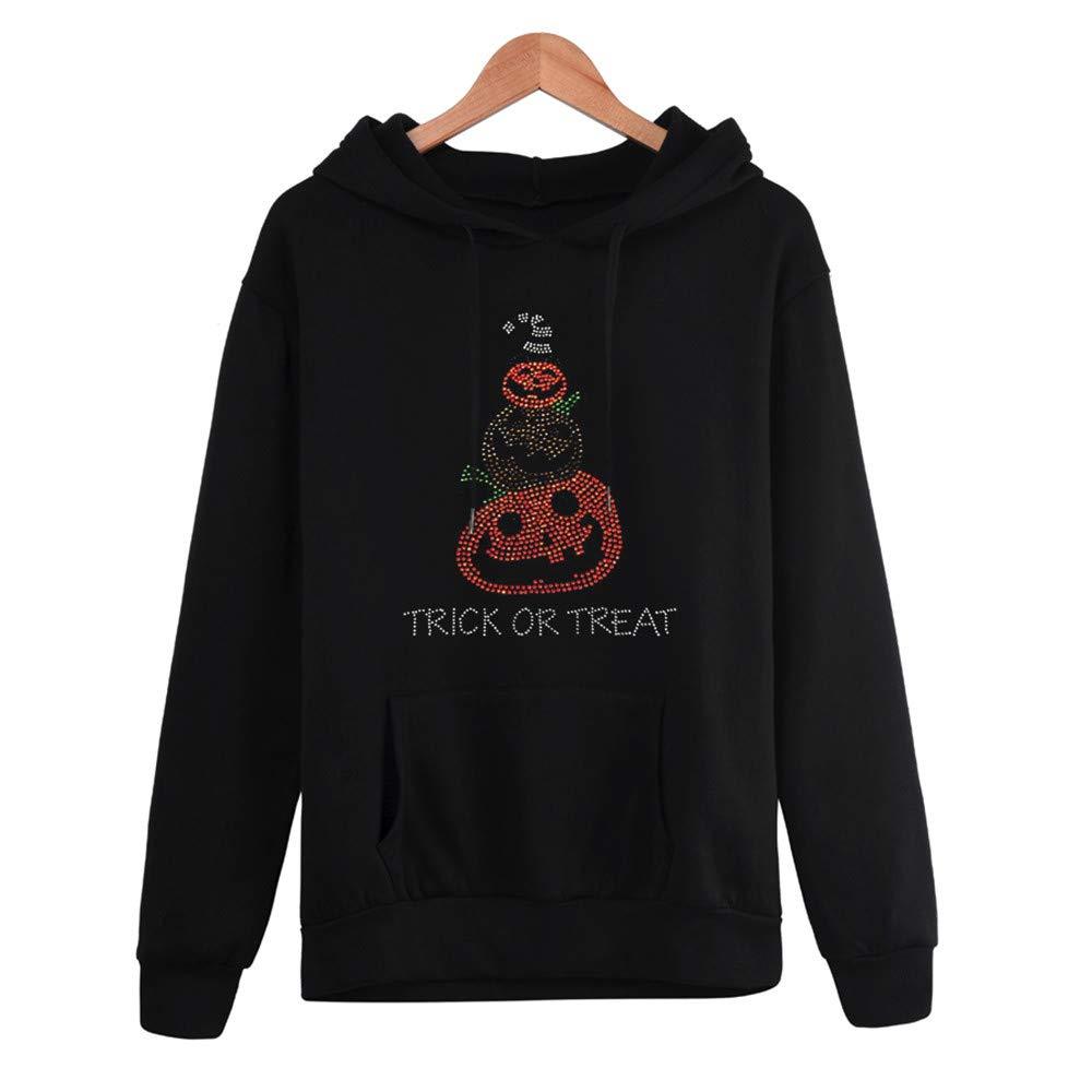 HARRYSTORE Frauen Halloween Plus Size Langarm Tasche mit