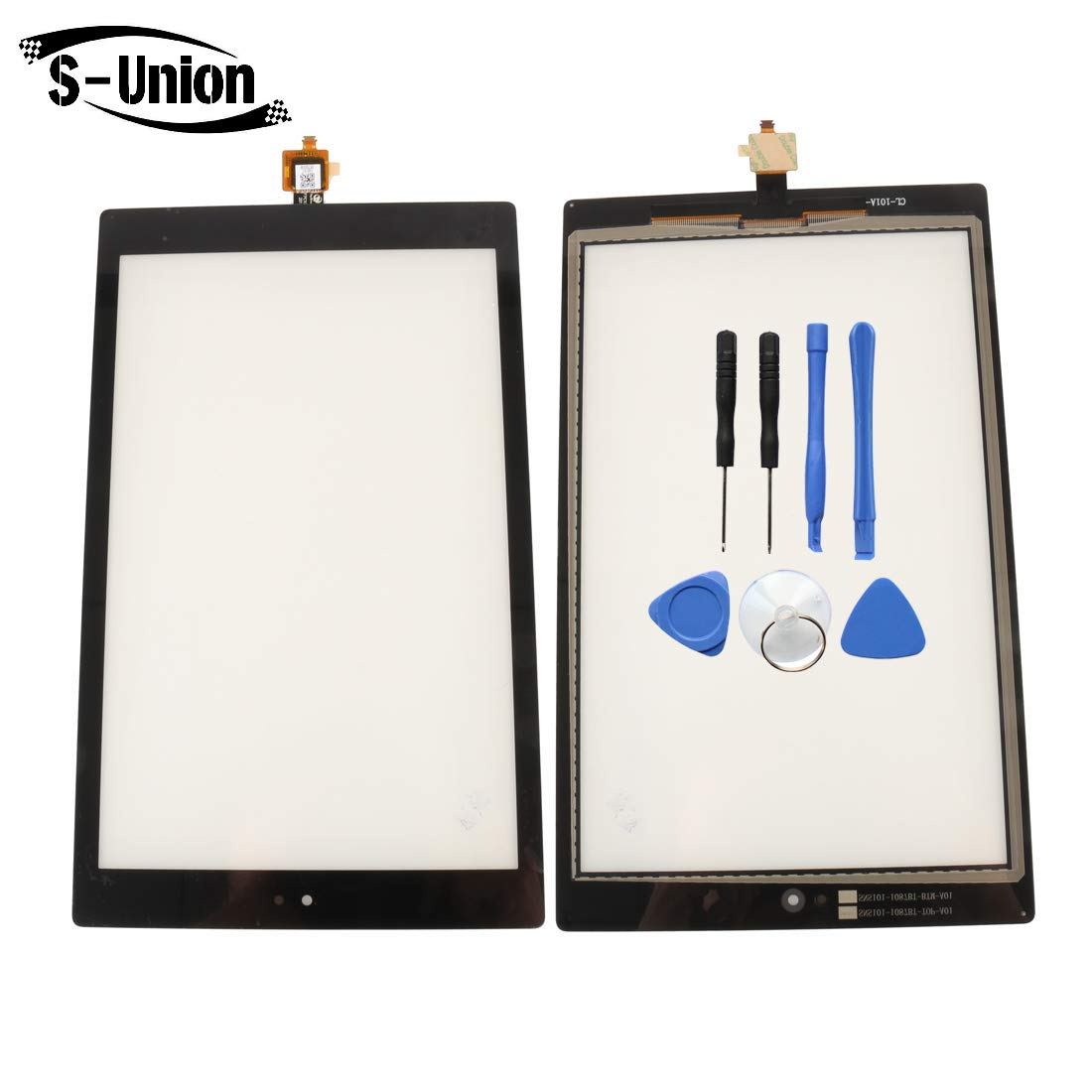 S-Union New Replacement Touch Screen Digitizer for Amazon Kindle Fire HD10 7TH SL056ZE (Comes with Tools)