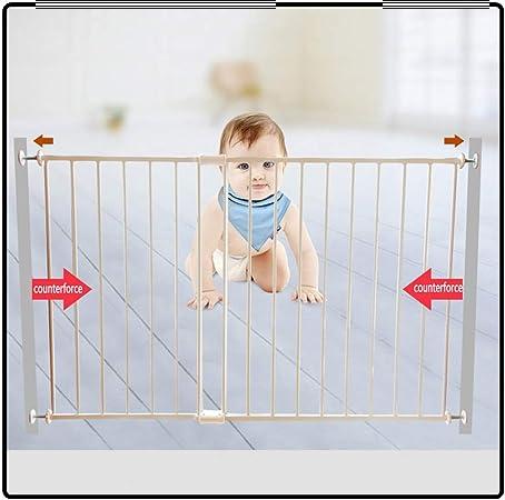QIANDA Barrera Seguridad Niños Protector Escaleras Bebe Puerta De La Ventana Barras De Seguridad Agregar Medidas De Seguridad Infantil - Blanco, Ancho 74-200cm (Size : 81cm-143cm): Amazon.es: Hogar