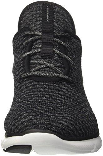 Zapatillas Negro Para 0 Sin white 2 Move Flex bold Mujer black Skechers Cordones Appeal AqwaFPY