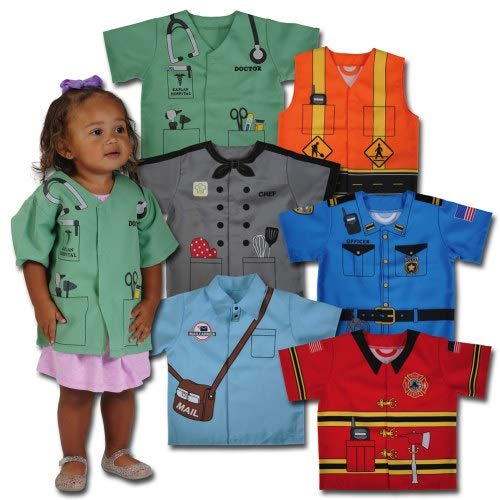 Kaplan Early Learning Company Community Dress-Up Toddler Dramatic Play Costumes - Set of 6