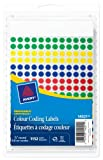 """Avery Removable Colour Coding Labels, 1/4"""", Assorted Primary, Round, 1152 Labels, Removable (14021)"""