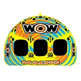 WOW Sports WOW World of Watersports, Macho 16-1030 1 to 3 Person Towable Tube, Multiple Riding Positions