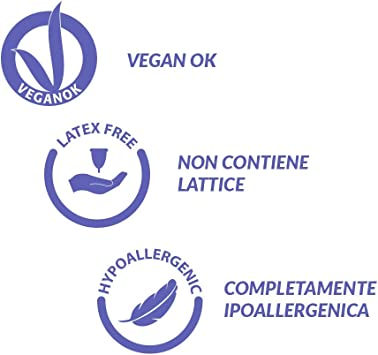 Alia Cup Talla M Copa menstrual reutilizable de silicona platino de grado médico certificado
