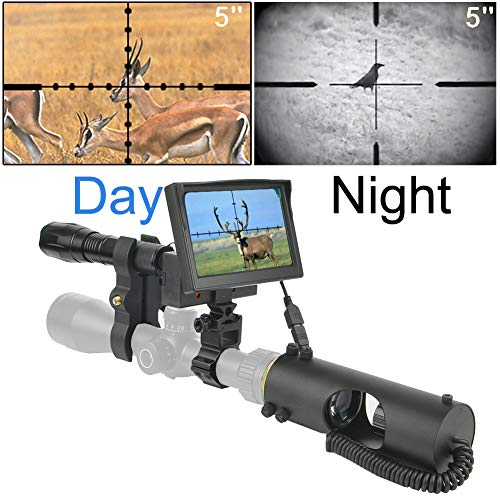 RHYTHMARTS Night Vision Rifle Scope with HD Camera and 5
