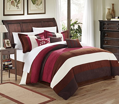 Chic Home 7-Piece Cathy Microsuede Piece Comforter Set, Quee
