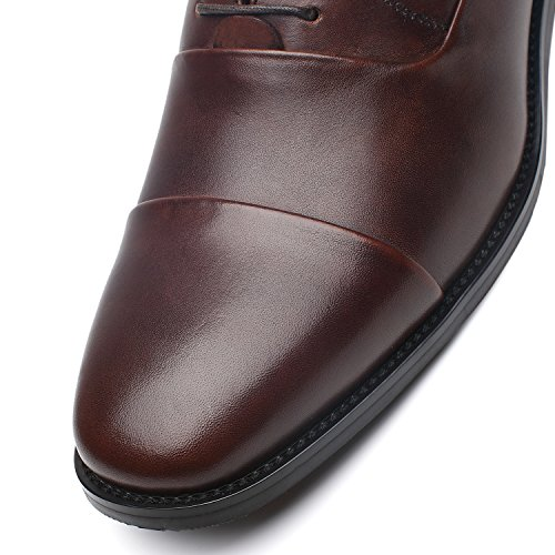 discount latest collections La Milano Men's Oxfords Classic Modern Round Captoe Shoes Regno-1-brown discount shop offer discount huge surprise clearance free shipping cost online ODJFeSBu