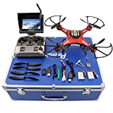 RC Quadcopter, Potensic Premium JJRC H8D RTF RC Drone with 2 Megapixels Camera, 5.8 GHz FPV Monitor LCD, Drone Carrying Case