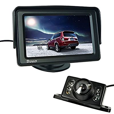 "Buyee 4.3"" TFT LCD Rear view Monitor and Night Vision Car Reverse Backup Camera+LED Car Rear View Reverse Reversing Waterproof Colour Video Camera Kits"