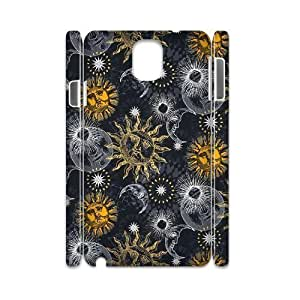Sun Moon Pattern Brand New 3D Cover Case for Samsung Galaxy Note 3 N9000,diy case cover ygtg543795