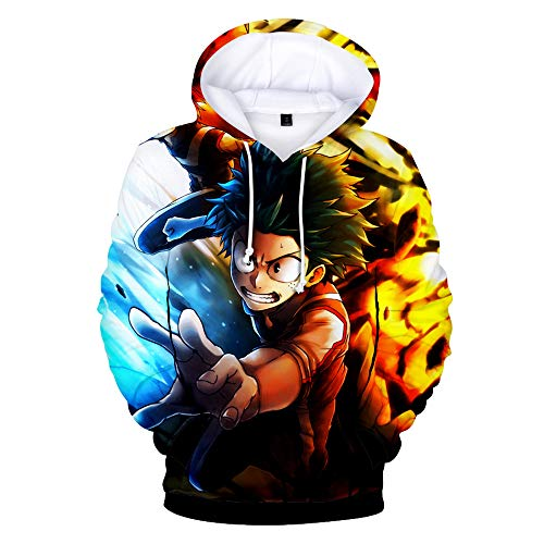 Boku No Hero Academia Hoodie 3D Printed Hooded Pullover Sweatshirt (Medium, Color 2)