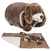 Snuggle Me Sherpa Large Soft Baby Blanket & Plush Pillow Stuffed Animals For Girls, Boys, Baby, Sleeper Toys