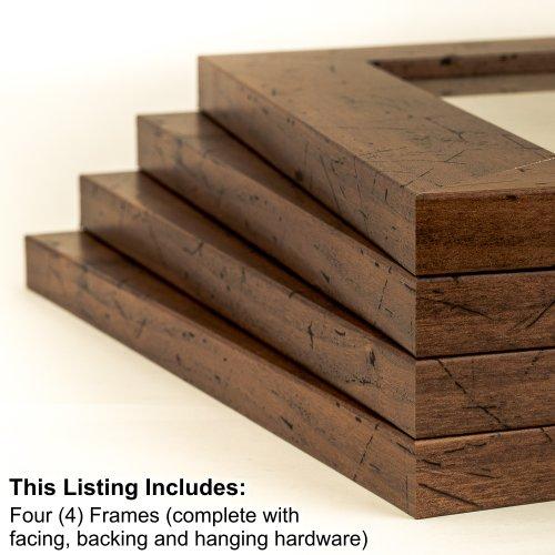 Distressed Walnut Wood - 3