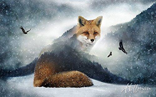 (Fox Fabric Panel - Call of the Wild Digital Print - 27