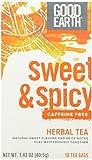 Good Earth Sweet & Spicy Caffeine Free Herbal Tea, 18 Count Tea Bags (Pack of 3)