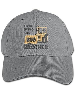 Big Brother Gift For Tractor Loving Adjustable Snapback Hip-hop Baseball Hat Cap For Kid Four Seasons