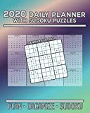 2020 Daily Planner with Sudoku Puzzles: Plan Organize Sudoku Planning by Day Calendar Jan-Dec 2020