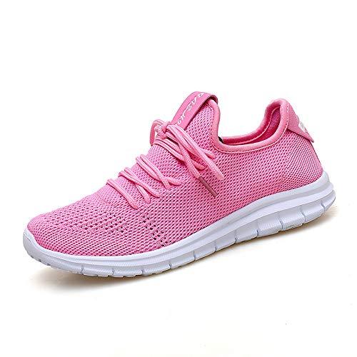 Tacco Tulle Rosa Rosso PU Sneakers Scarpe Pink donna Lace piatto Punta ZHZNVX Autunno Grigio Primavera tonda da Comfort poliuretano up pwvxtUCq