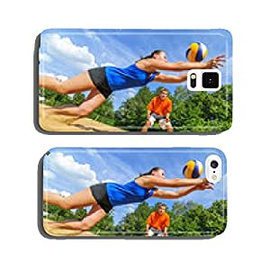 Use of beach volleyball cell phone cover case iPhone6