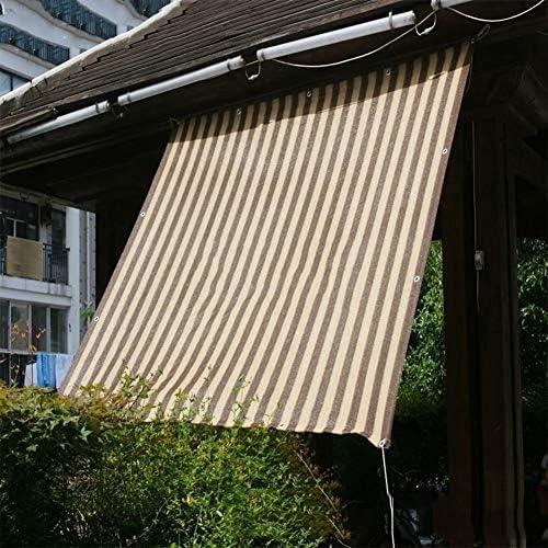 BAIYING Malla Sombra De Red Balcón Protector Solar Jardín Cubrir Pérgola Coche Cubierta Hebilla De Metal Polietileno, 23 Tallas Personalizable (Color : Striped Beige, Size : 4x6m): Amazon.es: Hogar
