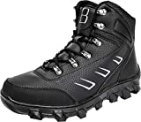 Barerun Men's Hiker Leather Waterproof Hiking Boot Outdoor Backpacking Snow Boots Black 9 D(M) US