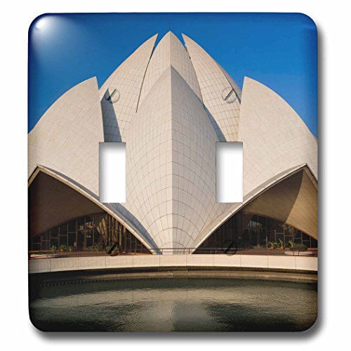 Danita Delimont - Architecture - Bahai Lotus Flower Temple, centre of the Bahai faith, Delhi - Light Switch Covers - double toggle switch (lsp_225628_2) by 3dRose