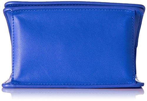 Love Moschino Borsa Calf Pu Blu - Borse Baguette Donna, Blau, 13x18x10 cm (L x H D)