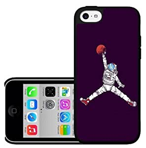 Cool Astronaut Jump Man on Purple Background Hard Snap on Phone Case (iPhone 5c)