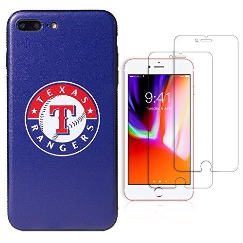 Sportula MLB Phone Case Matching 2 Premium Screen Protectors Extra Value Set - for iPhone 7 Plus/iPhone 8 Plus (5.5