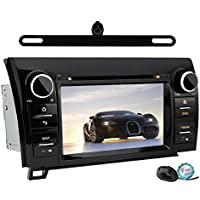 YINUO QUAD CORE 16GB Android 5.1.1 7 Double Din Touch Screen In Dash GPS Navigation Car DVD Player Stereo for 2007-2013 Toyota Tundra/ 2008-2013 Toyota Sequoia Rear View Cam Included