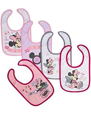 Minnie Newborn Bibs Making Wishes, Pink