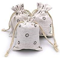 Desconocido 20pcs Chic algodón Yute cordón Bolsas Bolsas