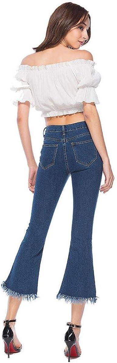 CRYYU Women Crimping Distressed Jumpsuit Romper Denim Overall Shorts