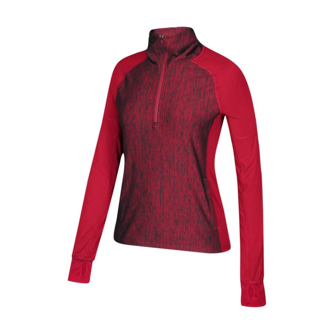 adidas Performance Baseline 1/4 Zip Top- Women's Multi-Sport XS Power Red
