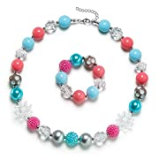 Vcmart Chunky Bubblegum Beads Necklace Baby Girls