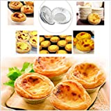 FMY Disposable Aluminum Foil Cups Baking Bake Muffin Cupcake Tin Mold Round,Set of 50