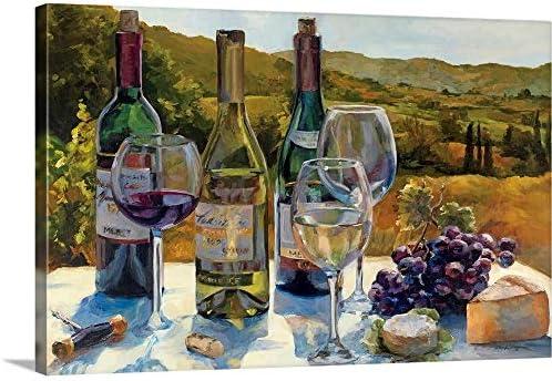 A Wine Tasting Canvas Wall Art Print