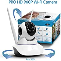 TBI 2017 NEW Wireless Security Camera - BEST Wifi Video Cameras - PRO HD 960P/ 720p - IP Pan/Tilt Smart Video Baby Monitor - P2P Digital Cameras for Home Surveillance. Connect iPhone iOS, Android